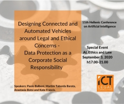 Designing Connected and Automated Vehicles around Legal and Ethical Concerns – Data Protection as a Corporate Social Responsibility